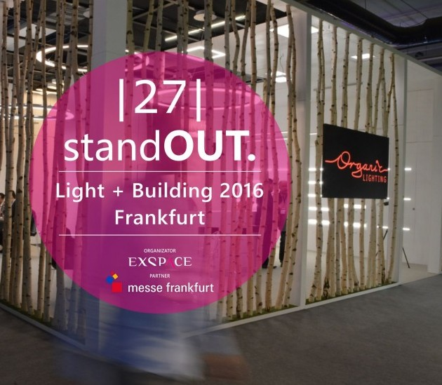 Organic Lighting Finalista StandOUT. Light + Building 2016 1